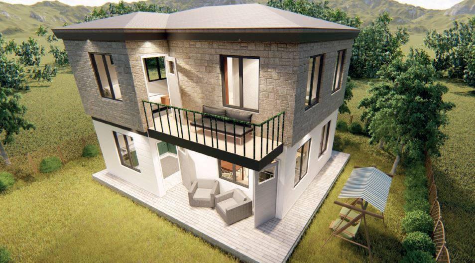 52+52 m2=104 m2 Art-Line Dublex