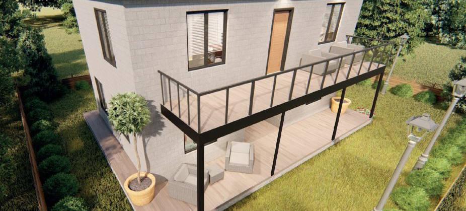 90 + 90 m2 = 180 m2 Luxury-Line Dublex