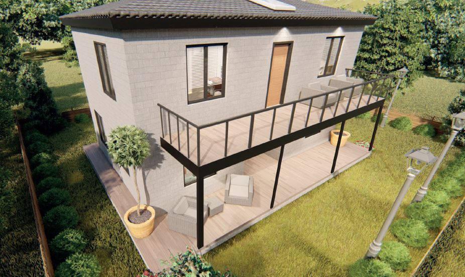 90+90 m2=180 m2 Luxury-Line Dublex