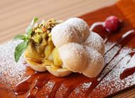安納芋と白玉の最中サンド