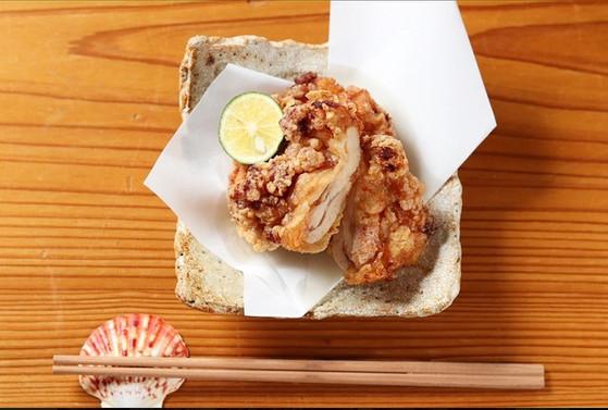 大山鶏の竜田揚げ