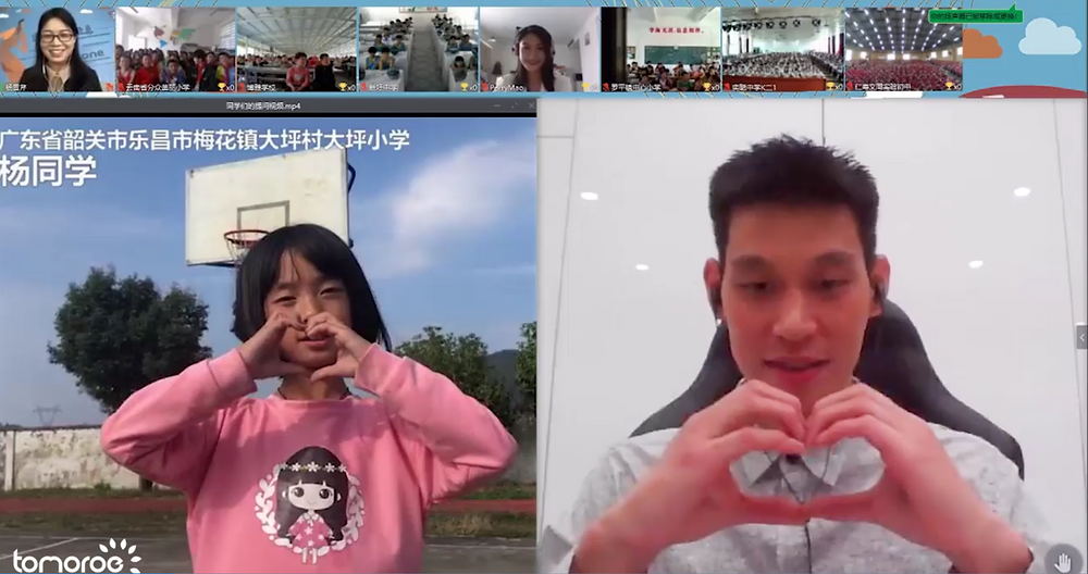 Jeremy Lin Answers Children's Questions Live on ClassIn