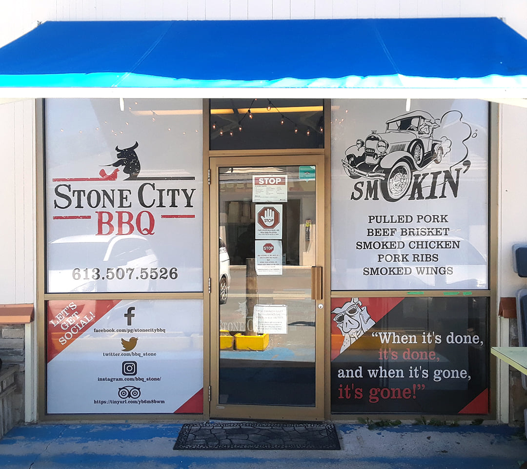 Stone City BBQ window perf