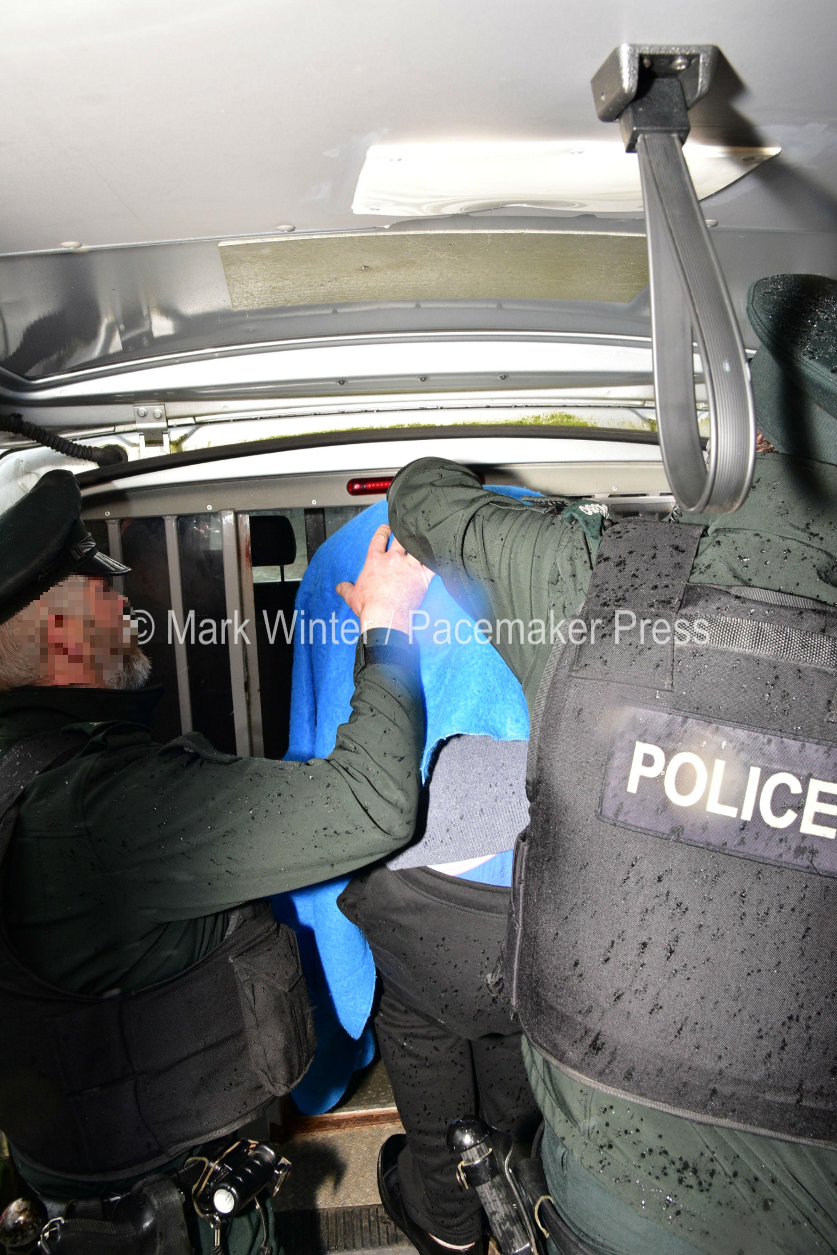 Accused taken away