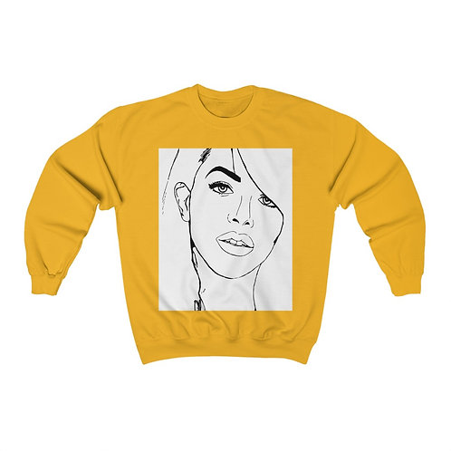 Aaliyah Crewneck Sweatshirt (Gold & Light Pink)