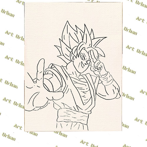 Dragon Ball 2 Pre Drawn Canvas for Painting, Sip and Paint Canva