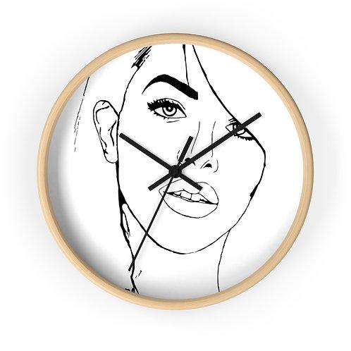 Aaliyah Round Wall Clock