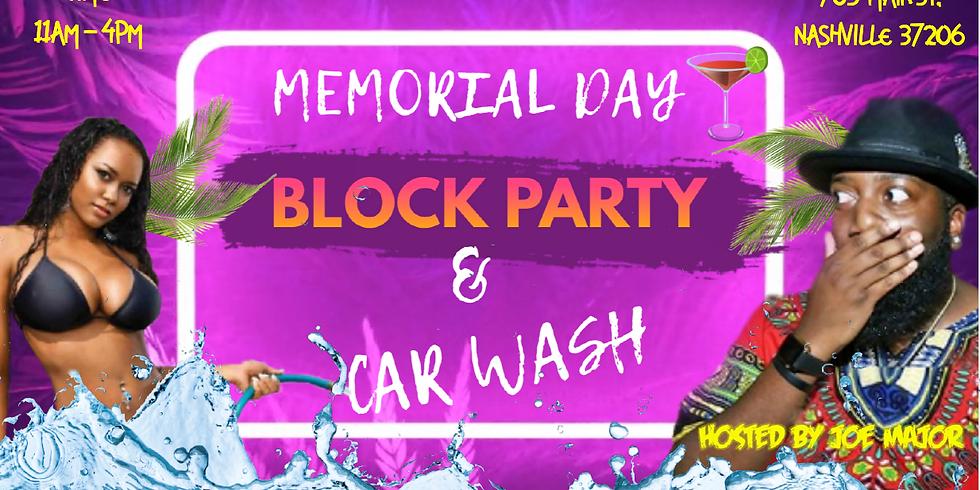 Memorial Day Block Party & Car Wash