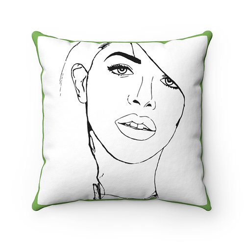 Aaliyah Square Pillow (Green)