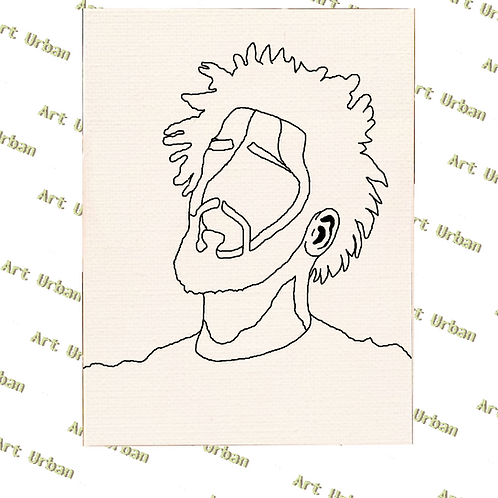 J Cole Pre Drawn Canvas for Painting, Sip and Paint Canva