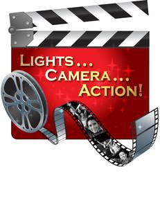 Lights Camera Action Logo