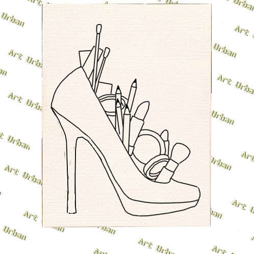 Heels 5 Pre Drawn Canvas for Painting, Sip and Paint Canva