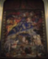 The Northampton Theatre Royal Safety Curtain painted by Henry Bird