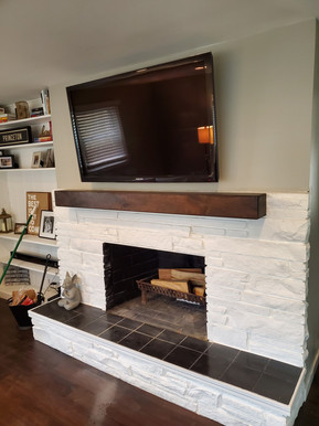 TV and mantle mount