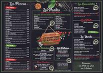 set de table menu sur place comptoir d'adriano