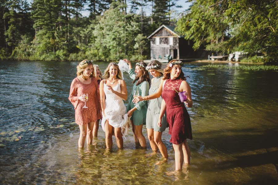 Lake Wedding Party