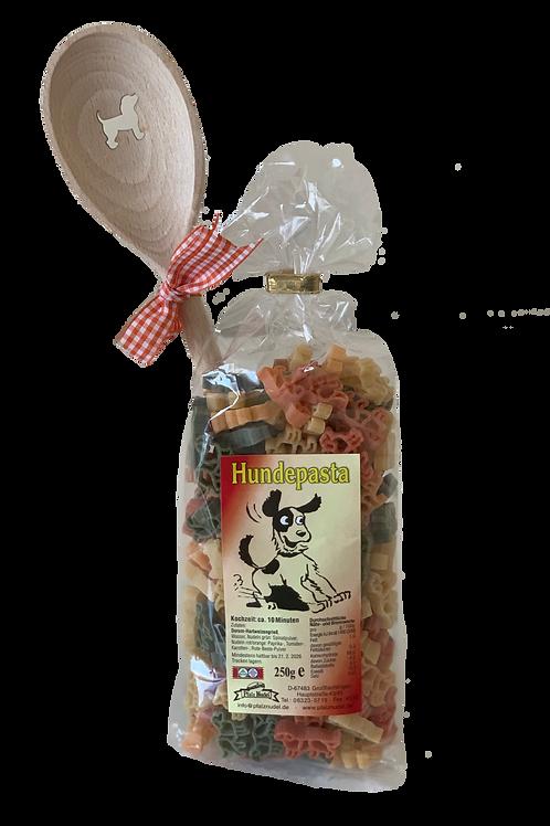 Für echte Hundeliebhaber - Pasta in Hundeform mit passendem Motivkochlöffel