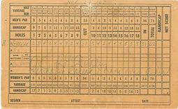 Original Course Record - Bill Greene