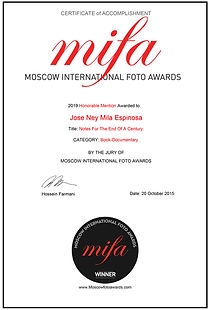 Jose Ney Mila Espinosa I Honorable Mention MIFA 2019.