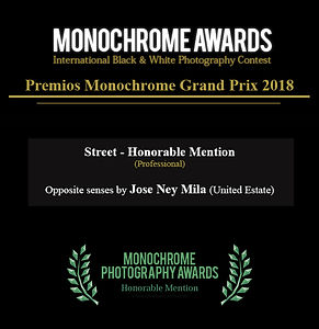 Jose Ney Mila Esinosa I Honorable Mention Monochrome awads 2018