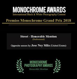 Jose Ney Mila Esinosa I Honorable Mention Monochrome awads 2018