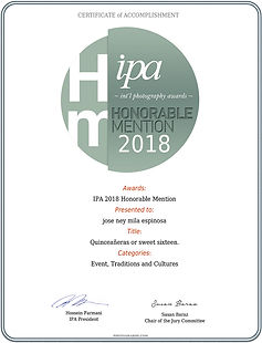 Jose Ney Mila Espinosa I Mention Honorable IPA 2018