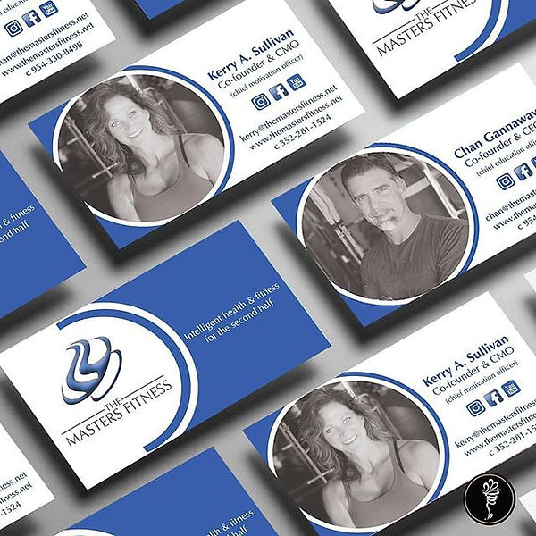 Business cards finalized for _themasters
