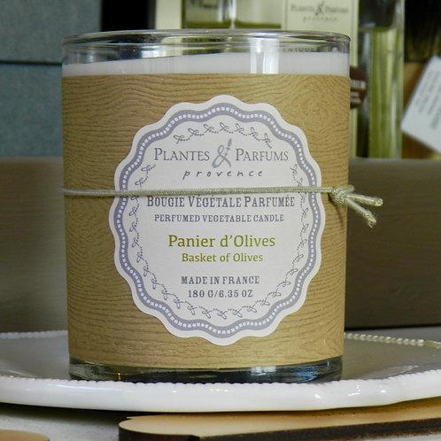 Bougie naturelle parfumée Panier d'olives
