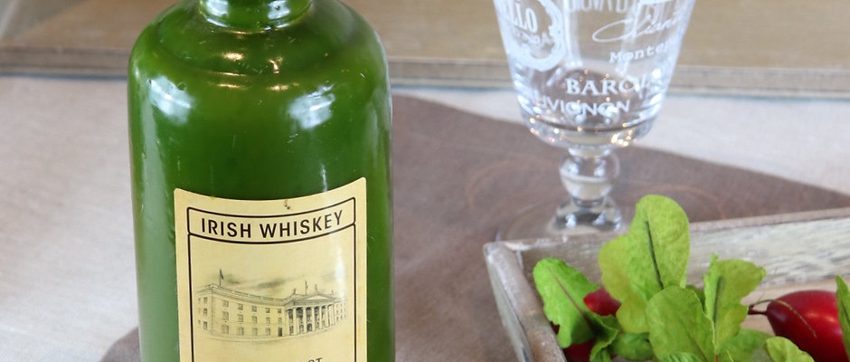 Bougie bouteille whiskey