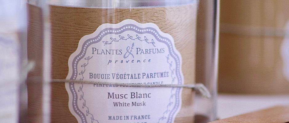 Bougie naturelle parfumée Musc blanc