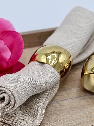 Rond de serviette en métal doré