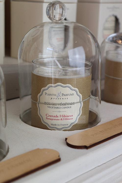Bougie naturelle parfumée Grenade hibiscus