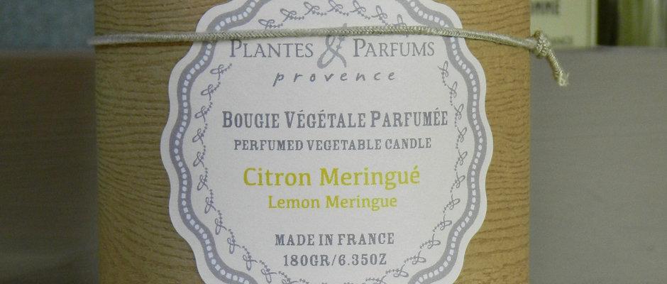 Bougie naturelle parfumée Citron meringué