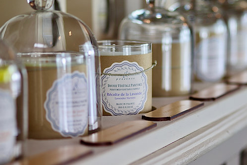 Bougie naturelle parfumée Récolte de la lavande