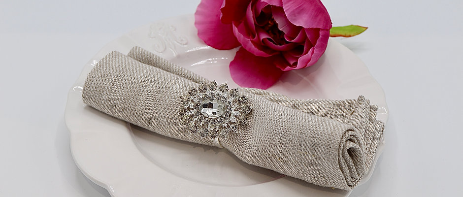 Anneau de serviette bague diamant