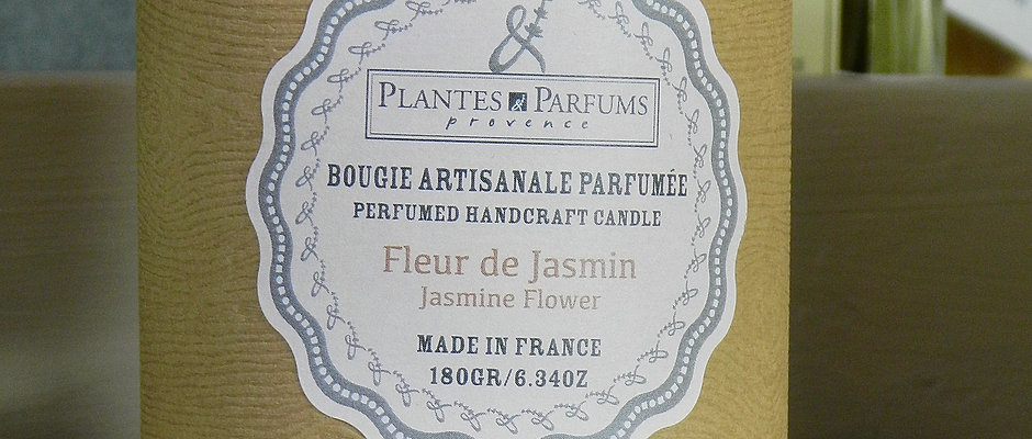 Bougie naturelle  parfumée Fleur de jasmin