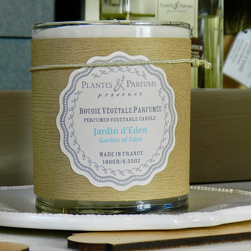 Bougie naturelle parfumée Jardin d'eden
