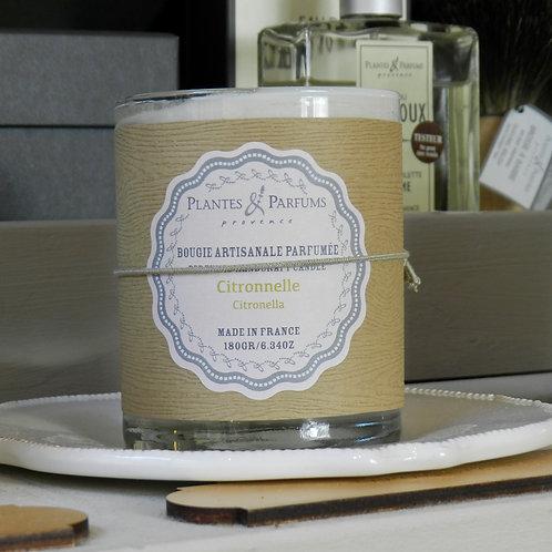 Bougie naturelle parfumée citronnelle