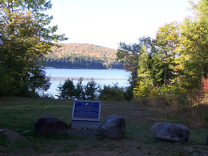 Spednic Lake Heritage River Monument.JPG