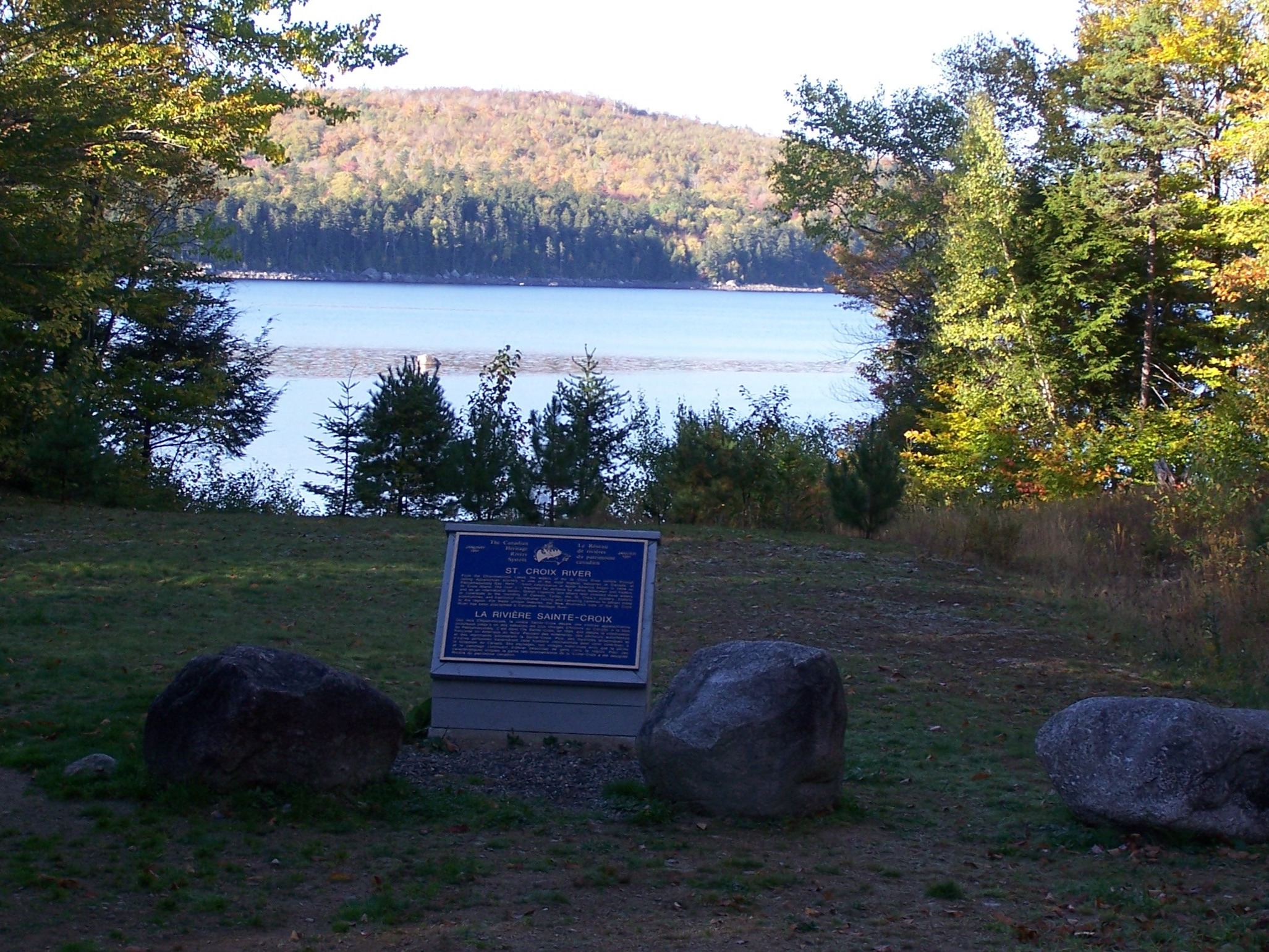CHRS Plaque at Spednic Lake