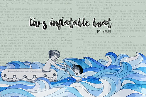 Liv's inflatable boat