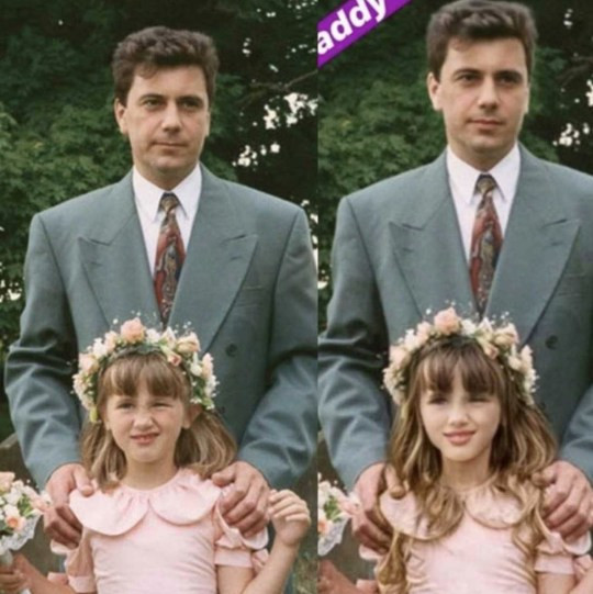 Lauren Goodger photoshops childhood photo