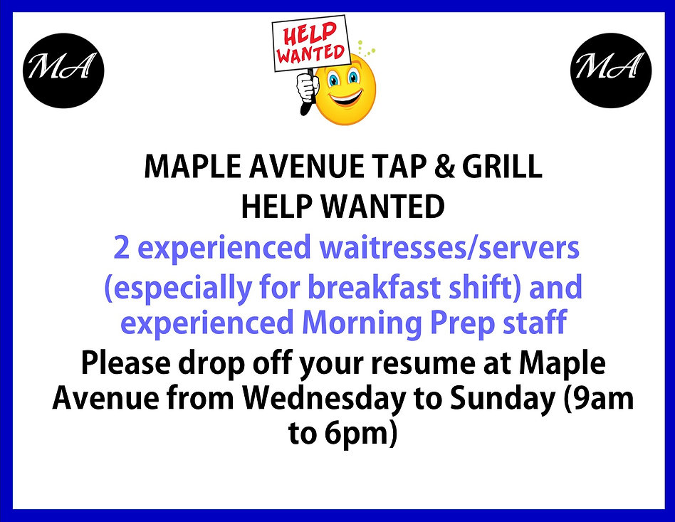 Help wanted for 2 waitresses August 2020