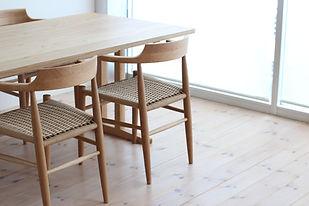 ハーフアームチェア ルークファニチャー ペーパーコード 木の椅子.JPG