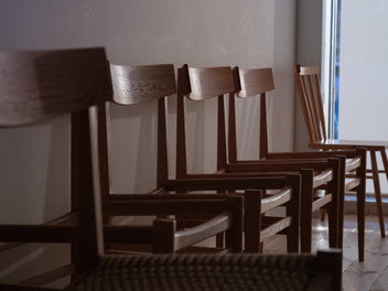 座面の編み込み
