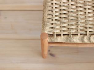こども椅子の編み込み