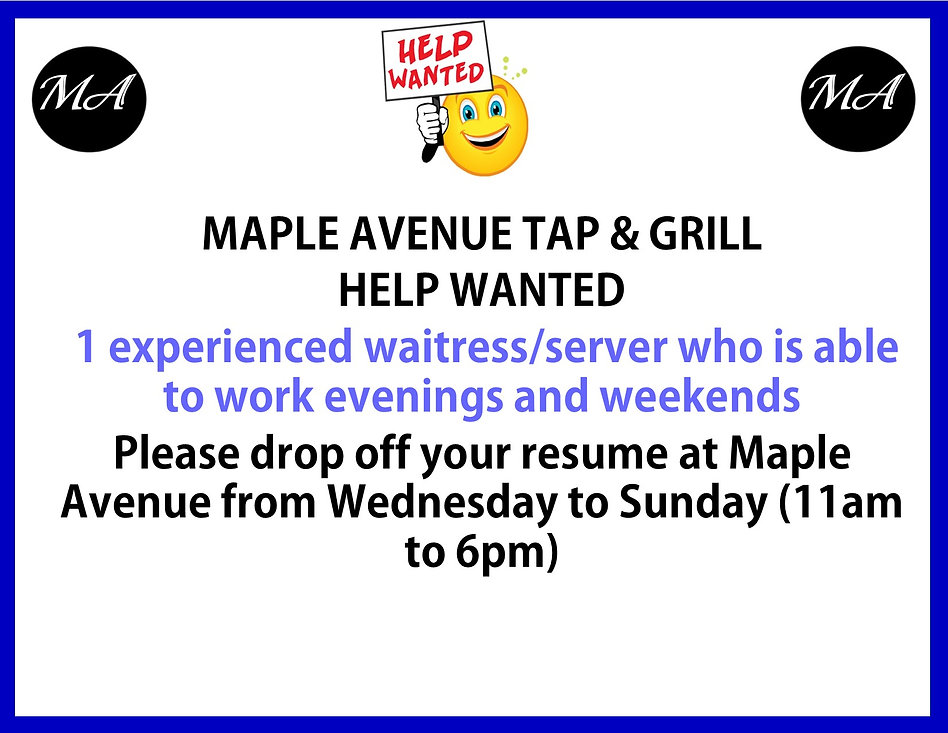 Help wanted for  1 waitress Feb 2021.jpg