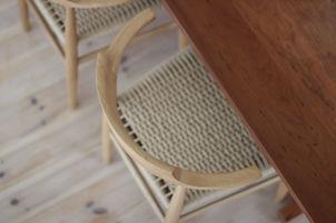オーダー家具 木の家具 ルークファニチャー 一宮 ハーフアームチェア ダイニング
