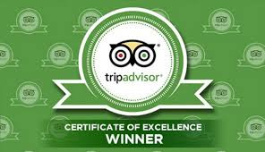 Trip Advisor's Certificate of Excellence Award 2019