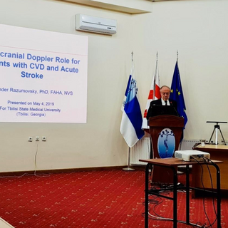 May, 2019, Lecture at Tbilisi State Medical University (Tbilisi, Georgia)